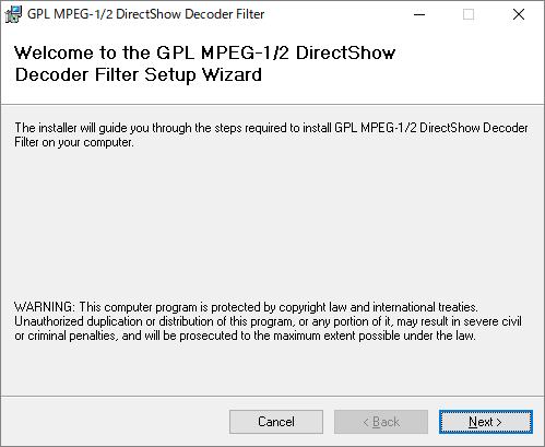 SoftaRO GPL MPEG 1 2 DirectShow Decoder Filter