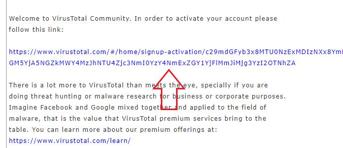VirusTotal API キーの入手