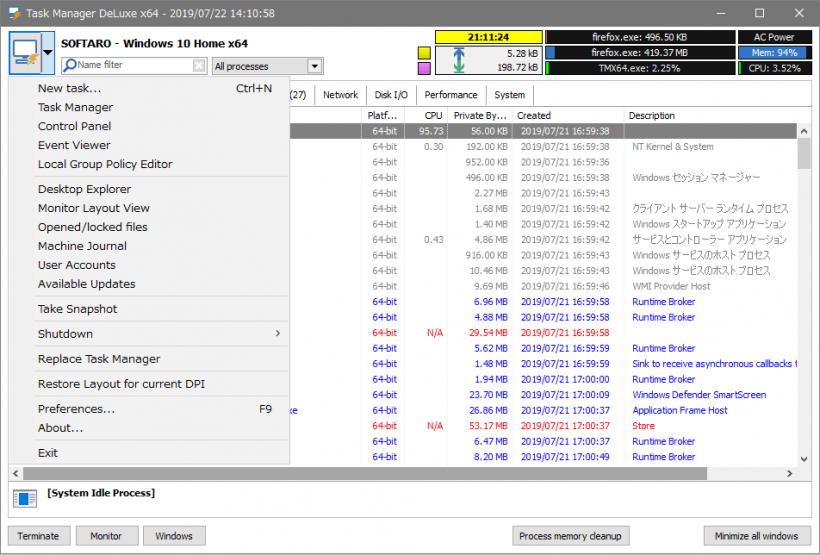MiTeC Task Manager Deluxe