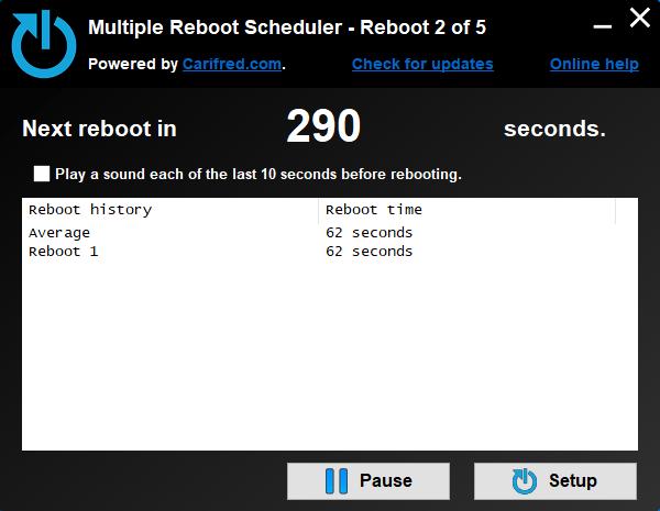 Multiple Reboot Scheduler