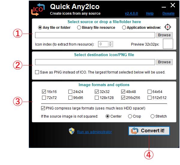 Quick Any2Ico