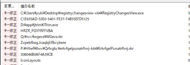 RegistryChangesView