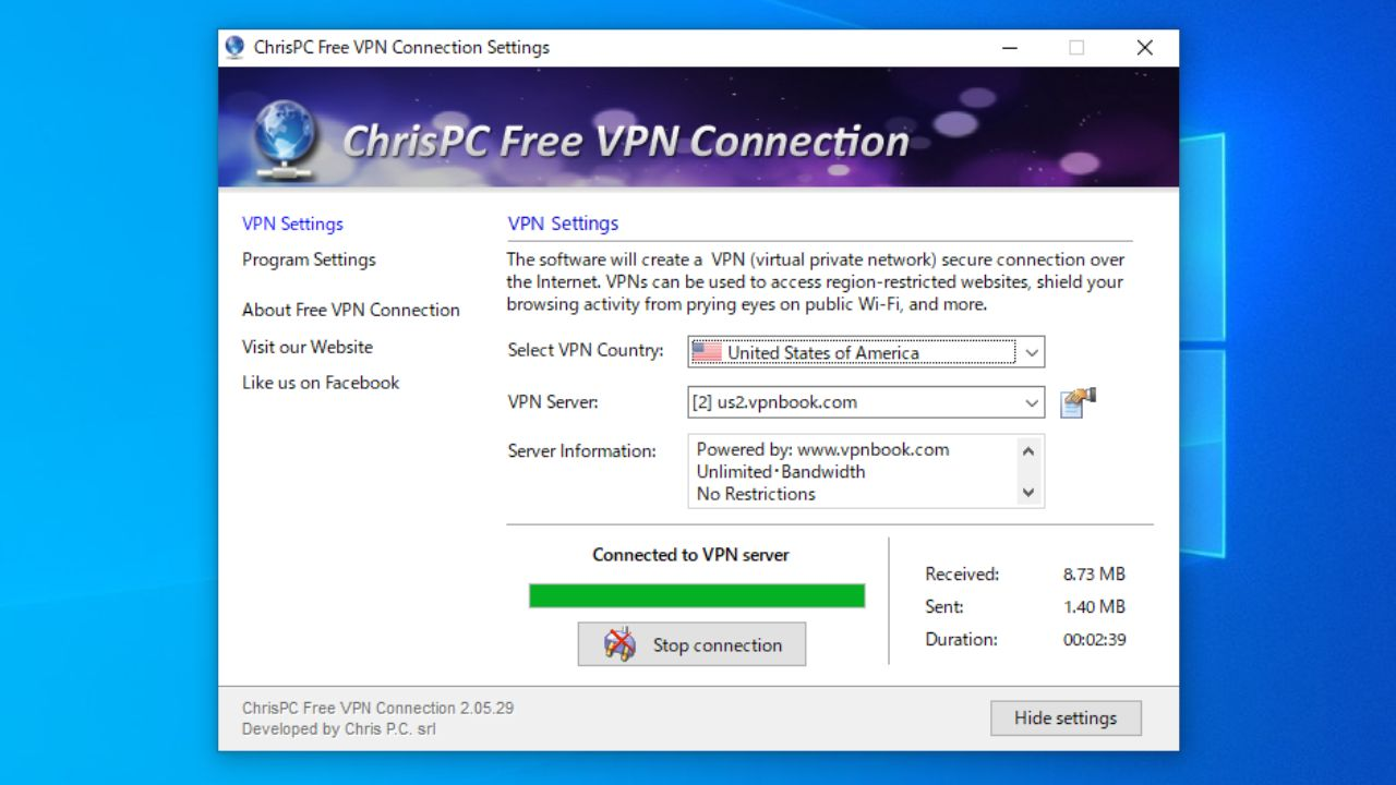 ChrisPC Free VPN Connection