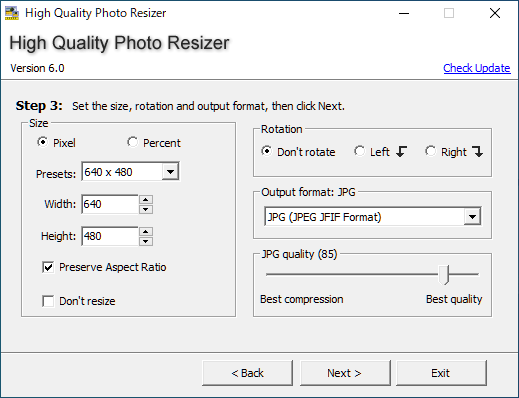 High Quality Photo Resizer