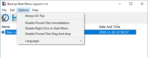 Backup Start Menu Layout