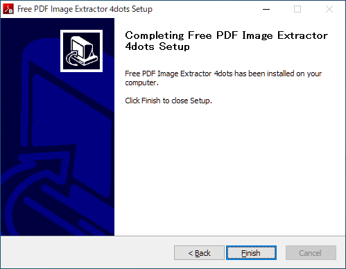 Free PDF Image Extractor 4dots