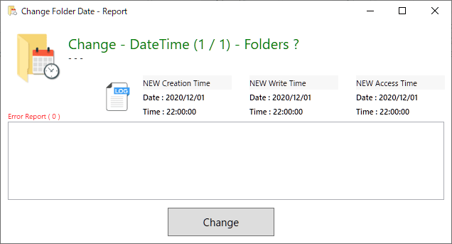 Change Folder Date