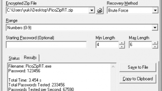 PicoZip Recovery Tool
