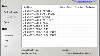 Eusing Free Registry Defrag