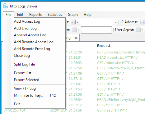 http Logs Viewer
