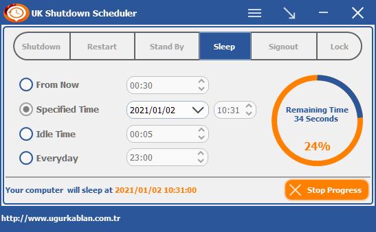 UK Shutdown Scheduler