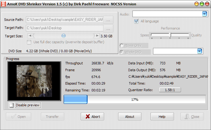 AmoK DVD Shrinker