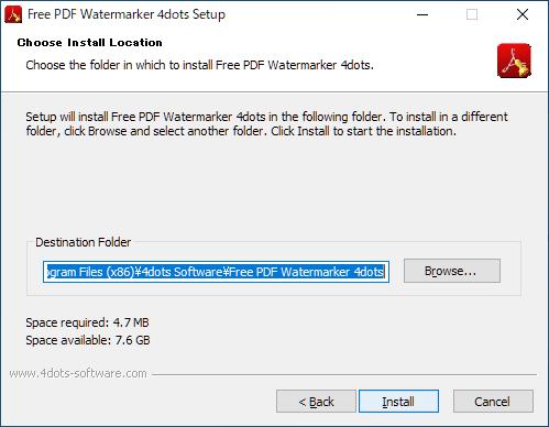 Free PDF Watermarker 4dots