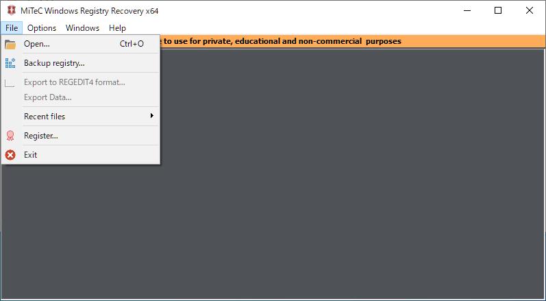MiTeC Windows Registry Recovery