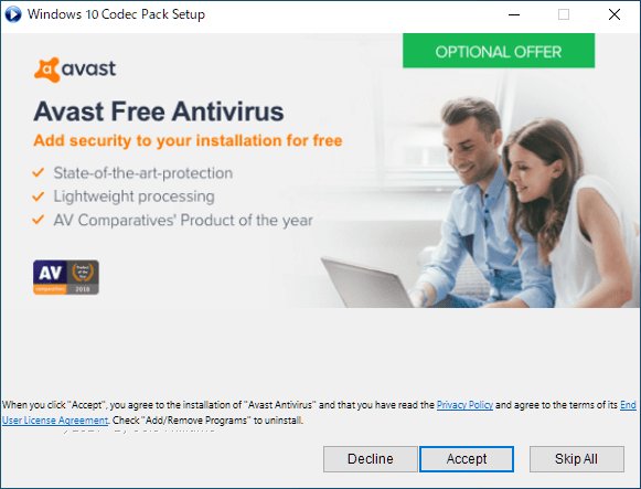 Windows 10 Codec Pack