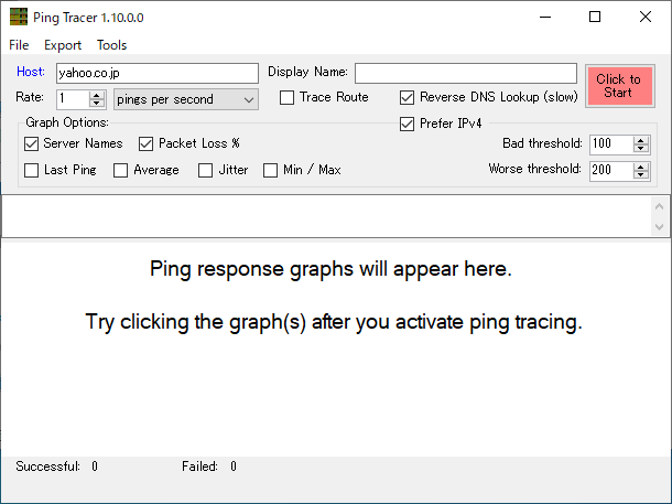 Ping Tracer