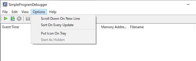 SimpleProgramDebugger
