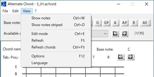 Alternate Chord