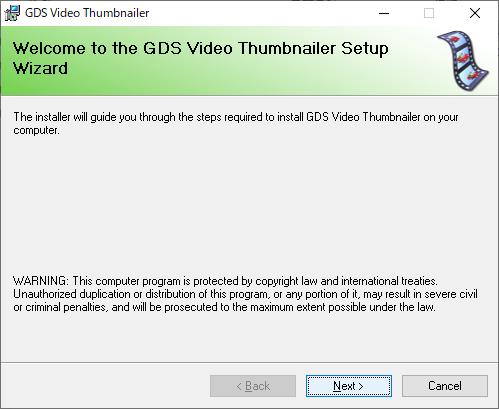 GDS Video Thumbnailer