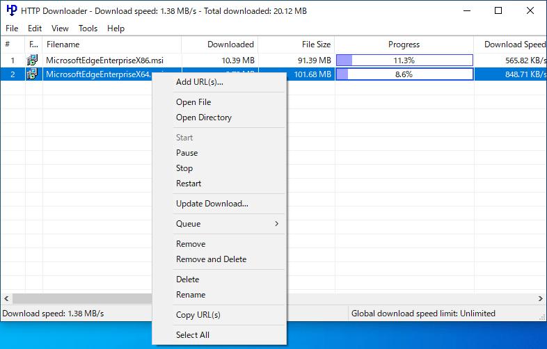 HTTP Downloader
