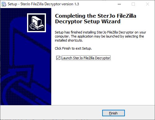 SterJo FileZilla Decryptor
