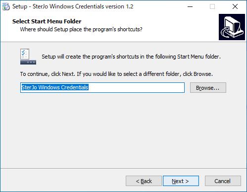 SterJo Windows Credentials