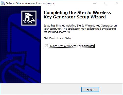 SterJo Wireless Key Generator