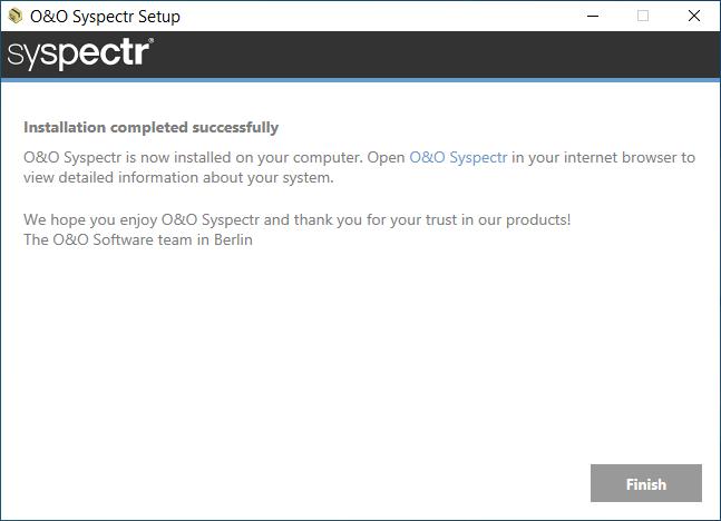 O&O Syspectr