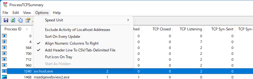 ProcessTCPSummary
