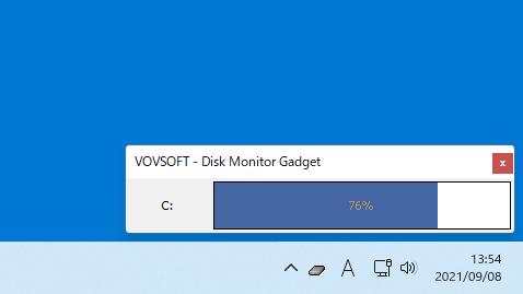 Disk Monitor Gadget