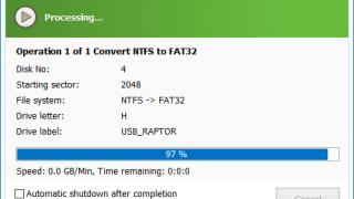 Macrorit NTFS To FAT32 Converter