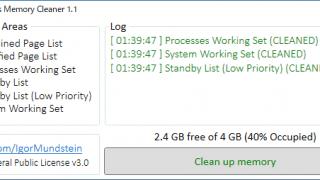 Windows Memory Cleaner
