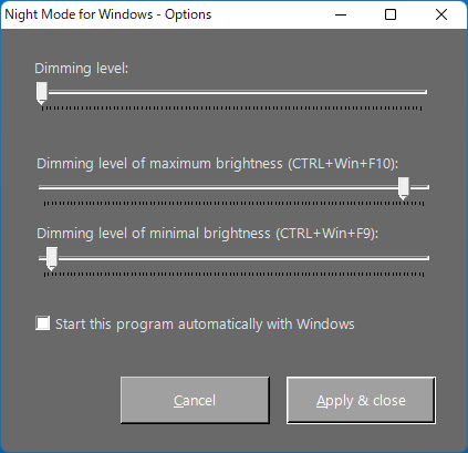 Night Mode for Windows